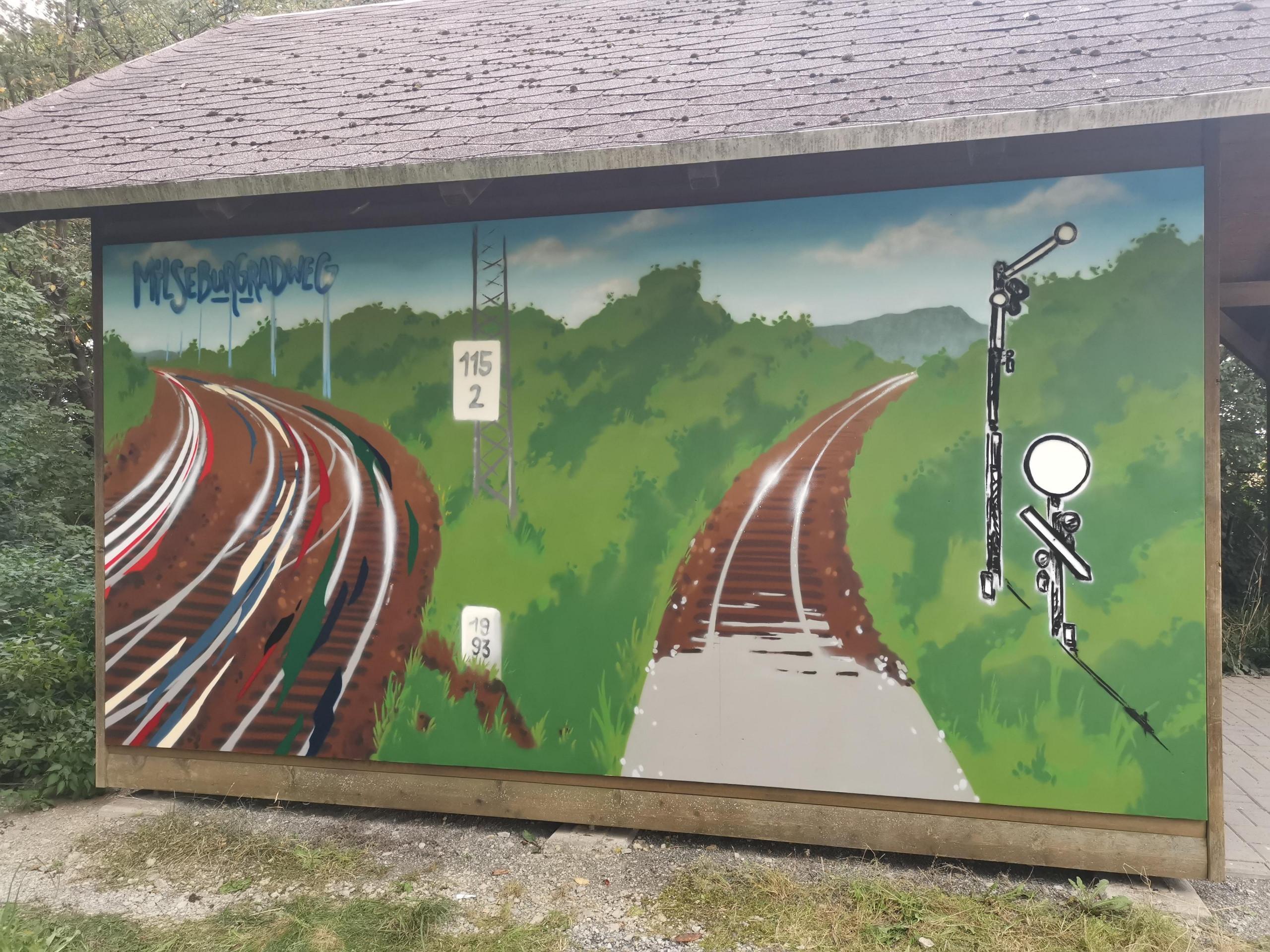 Kunst auf dem Radweg